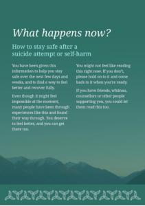 How to stay safe after a suicide attempt or self-harm
