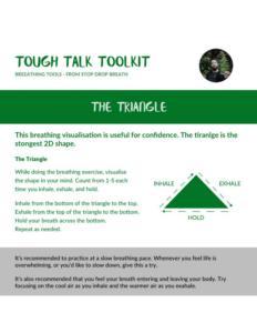 Triangle breathing method