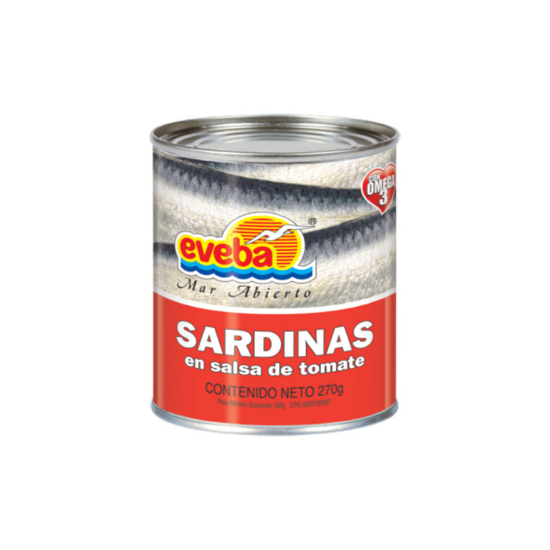 SARDINA EVEBA EN SALSA DE TOMATE 270 GR