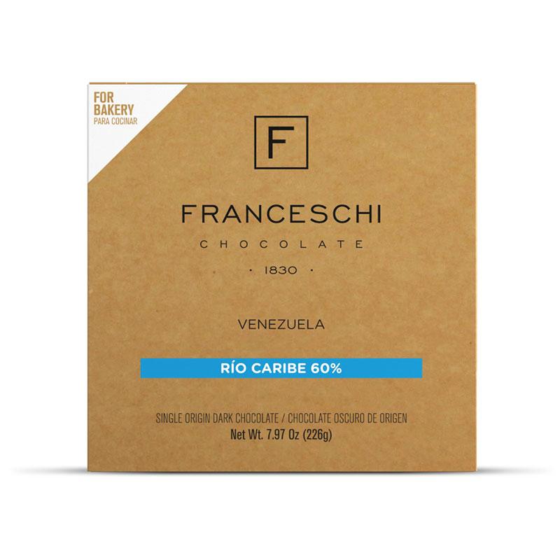 CHOCOLATE FRANCESCHI RIO CARIBE 60% 226 GR.