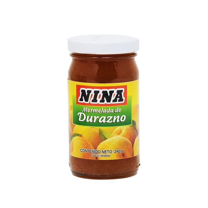 MERMELADA DURAZNO NINA 240 GR