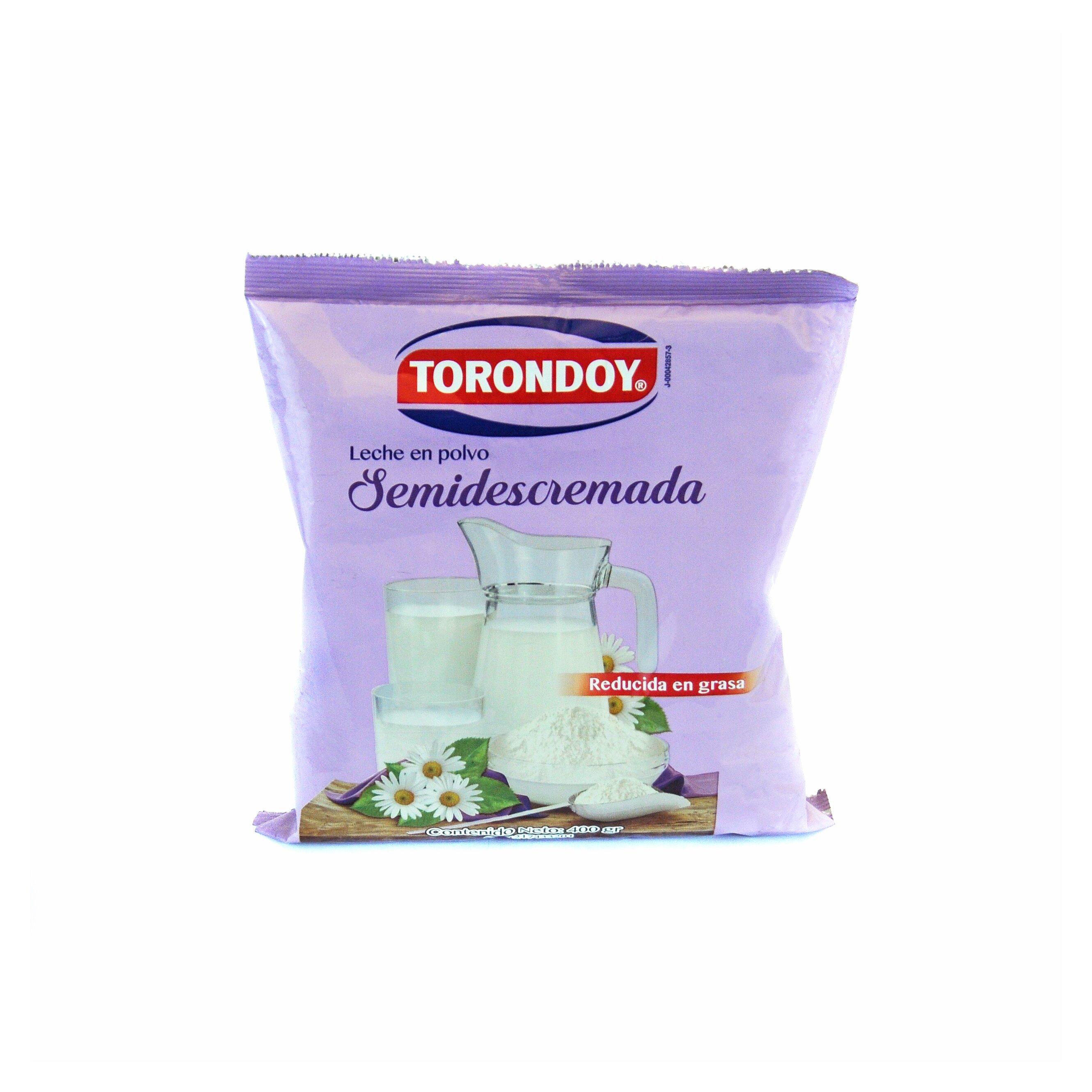 LECHE TORONDOY SEMIDESCREMADA BOLSA 400 GR