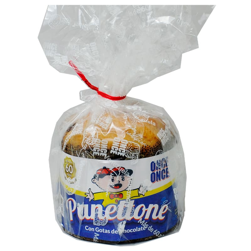 Panettone con chocolate Mini  Once Once