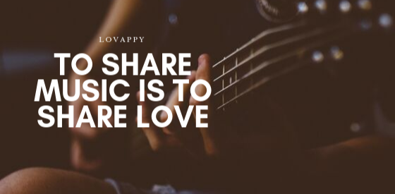 Sharing music is sharing love Cover Image