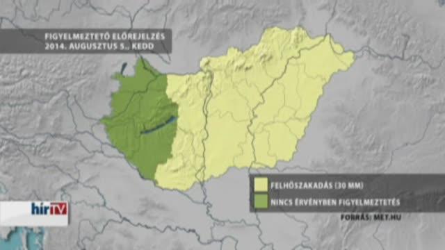 14 megyében számíthatnak akár jégesőre is