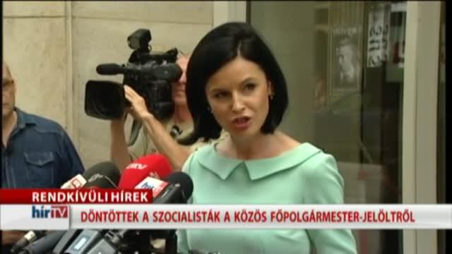 Az MSZP sajtótájékoztatója a közös főpolgármester-jelöltről