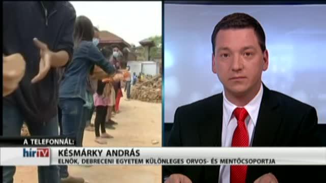 Magyarország élőben – Megérkeztek a földrengés sújtotta Nepálba