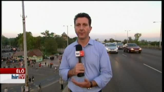 Könnygáz a Népligetnél, megfenyegették a Hír TV stábját is