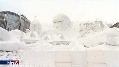 Megkezdődött a hagyományos szapporói hófesztivál
