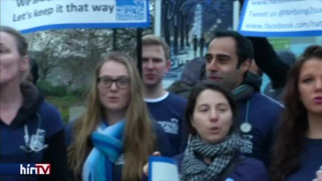 Orvossztrájk Londonban