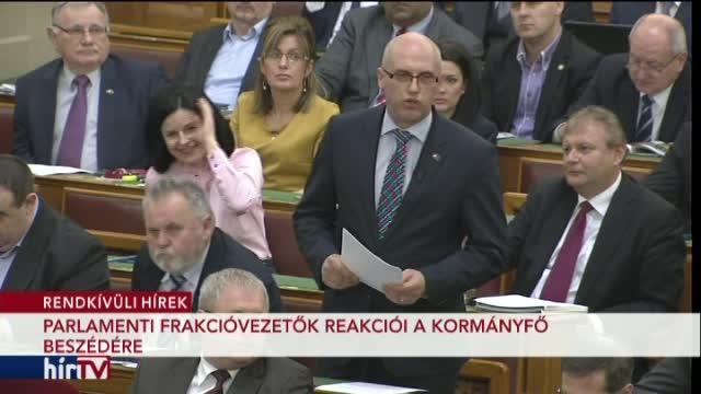 Orbán Viktor beszéde és a frakcióvezetők reakciói – 2. rész