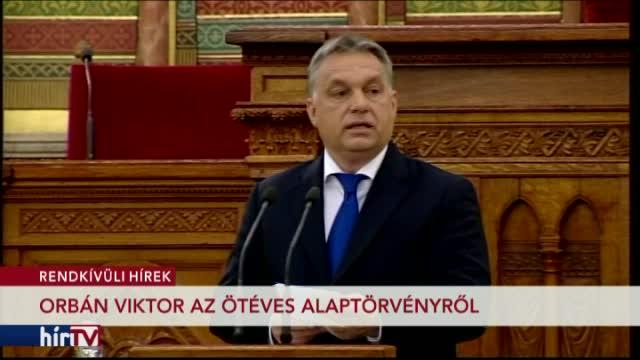 Orbán Viktor az ötéves alaptörvényről