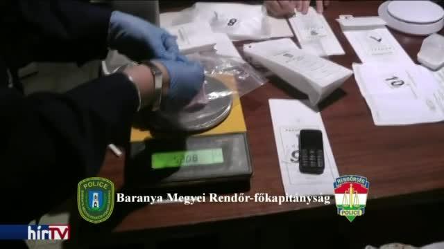 Nagy fogás egy baranyai drogellenes akcióban
