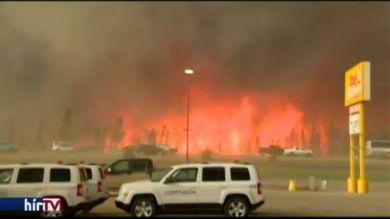Erdőtűz pusztít a kanadai Alberta államban