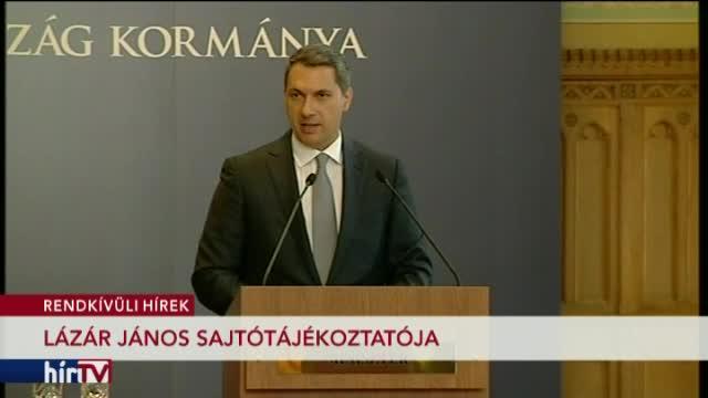 Lázár János sajtótájékoztatója - 1. rész