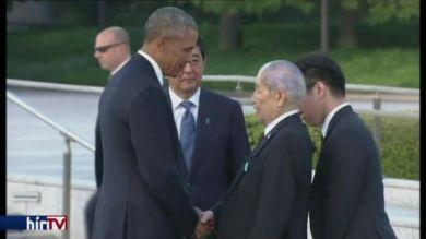 Barack Obama amerikai elnök Hirosimában