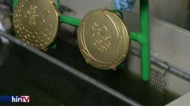 Készülnek a riói olimpia érmei
