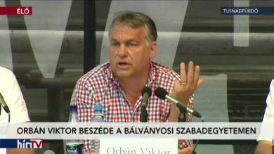 Orbán Viktor miniszterelnök beszéde Tusnádfürdőn