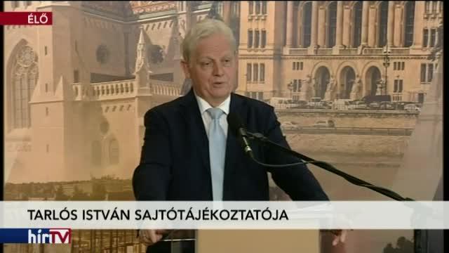 Tarlós István főpolgármester sajtótájékoztatója