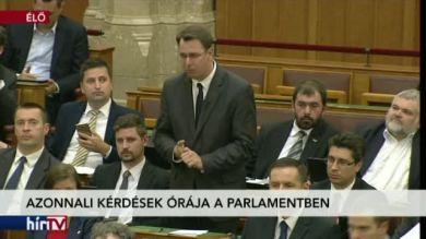 Azonnali kérdések órája a Parlamentben – 1. rész
