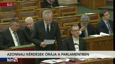 Azonnali kérdések órája a Parlamentben – 2. rész