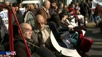 Fogyatékkal élők tüntettek Athénban