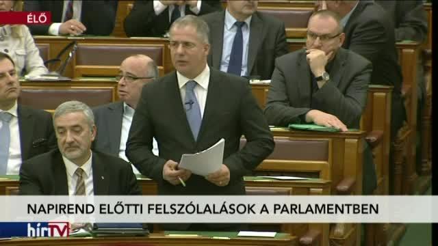 Napirend előtti felszólalások a parlamentben