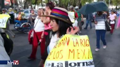 Mexikóban is tüntettek az amerikai elnök ellen