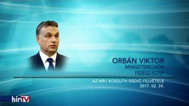 Orbán: Vérzik az ember szíve