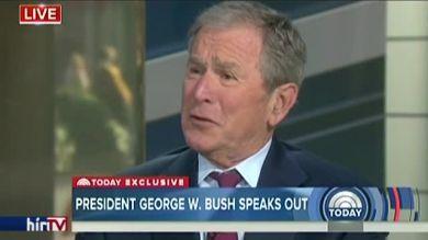 Bush bevédte a sajtót