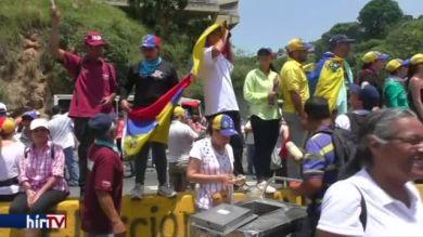 Ellenzéki tüntetés Venezuelában