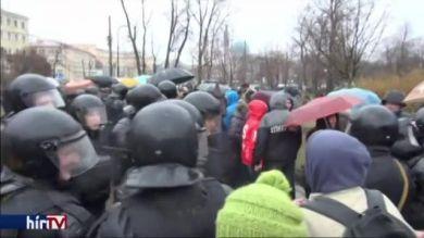 Tüntetések a Putyin-rezsim ellen