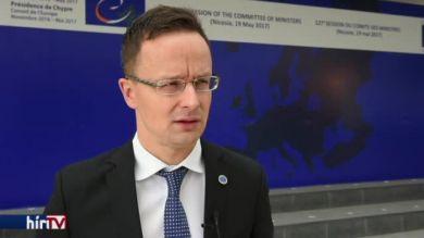 Szijjártó Péter az Európa Tanács Miniszteri Bizottságának ülésén