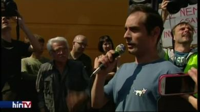Kovács Gergely felszólalása a felcsúti tüntetésen