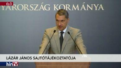 Lázár János kancelláriaminiszter sajtótájékoztatója – 1. rész