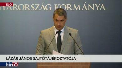Lázár János kancelláriaminiszter sajtótájékoztatója – 2. rész