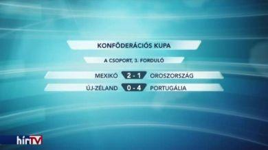 Konföderációs Kupa: Portugália és Mexikó már biztosan az elődöntőben