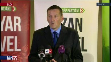 Volner János a Jobbik kihelyezett frakcióüléséről