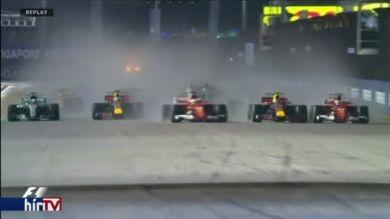 Hamilton nyert, a Ferrari nullázott Szingapúrban