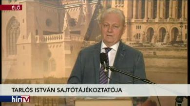 Budapestinfó: Tarlós István sajtótájékoztatója