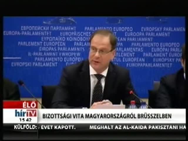 Bizottsági vita Magyarországról Brüsszelben (3)