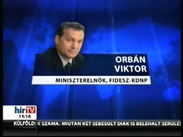 A Kossuth téren mond beszédet Orbán