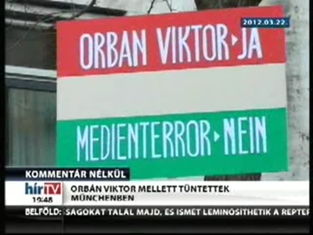 Orbán Viktor mellett tüntettek Münchenben