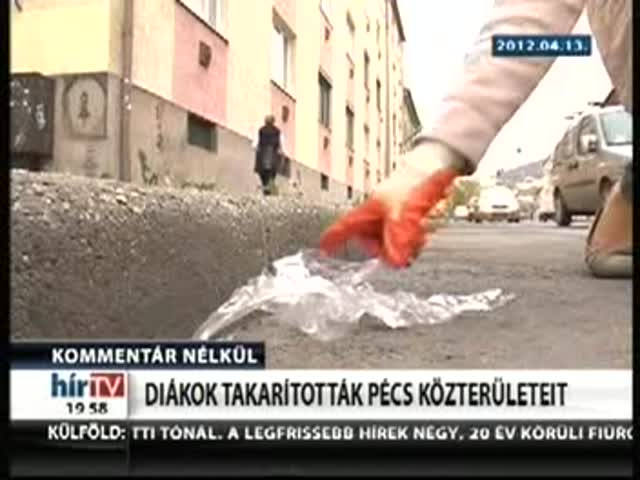 Diákok takarították Pécs közterületeit