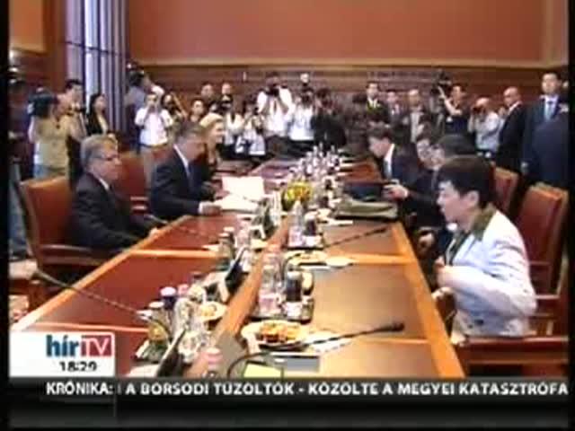 Hét megállapodást írtak alá Orbánék jelenlétében