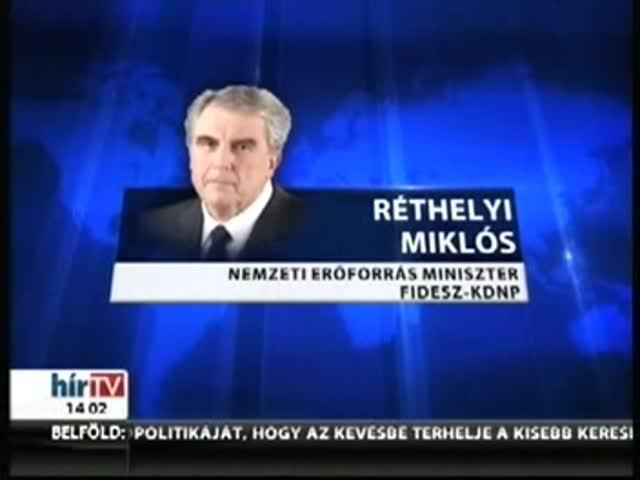 Lemondott Réthelyi Miklós