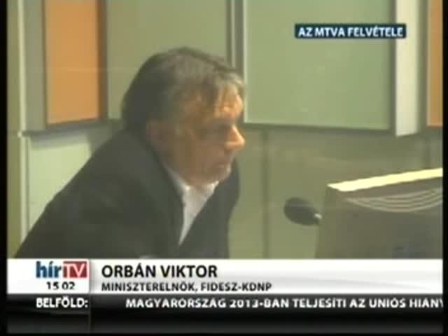Orbán: Varga tárgyal az IMF-fel