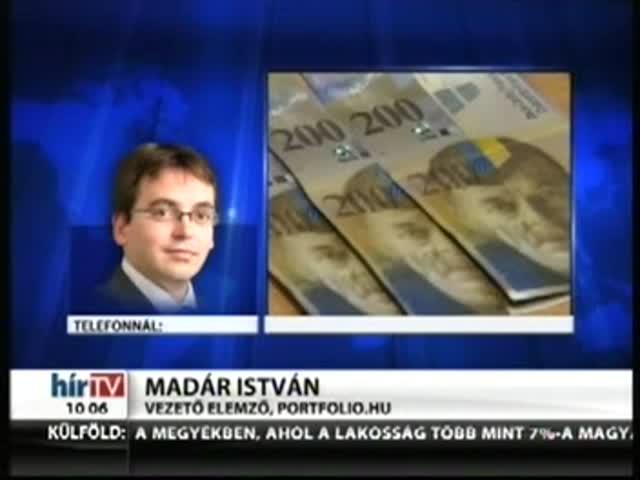 A forintnak sem tetszenek a görög hírek