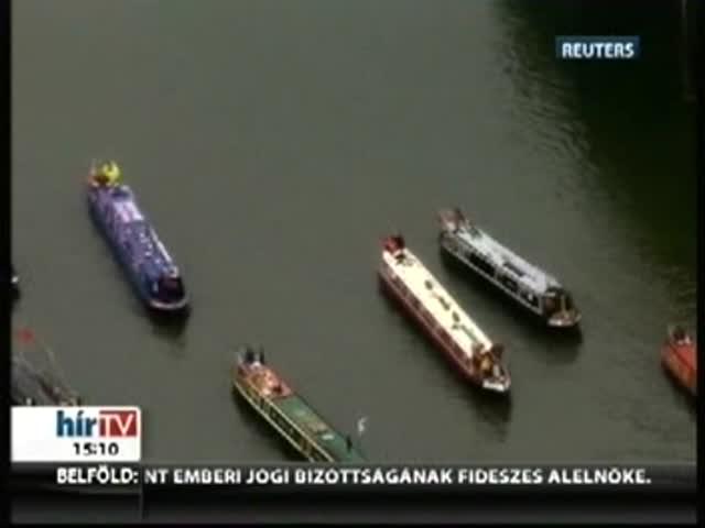 Gyémántjubileum: gigászi flotta lepte el a Temzét