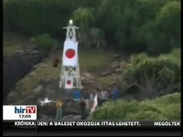Japán zászlókat tűztek ki a vitatott hovatartozású szigetre